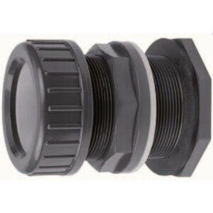 Passe paroi pvc pression 32mm avec collier de serrage VDL