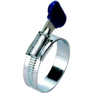 Collier de serrage avec écrou papillon 12mm INOX diam 16-22