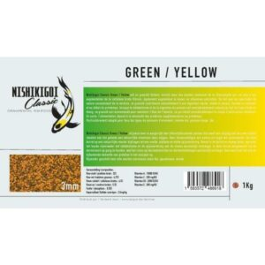 Nishikigoi classic Green / Yellow 3 mm 1 kg