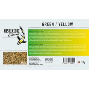 Nishikigoi classic Green / Yellow 6 mm 1 kg
