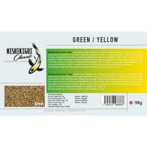 Nishikigoi classic Green / Yellow 6 mm 10 kg
