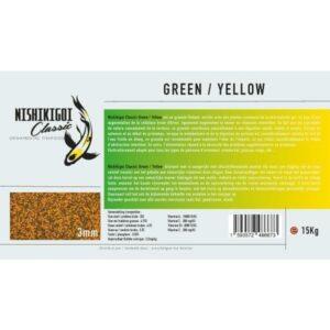 Nishikigoi classic Green / Yellow 3 mm 15 kg