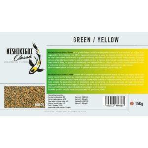 Nishikigoi classic Green / Yellow 6 mm 15 kg