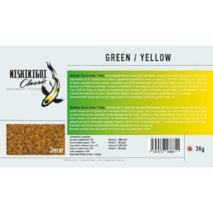 Nishikigoi classic Green / Yellow 3 mm 3 kg