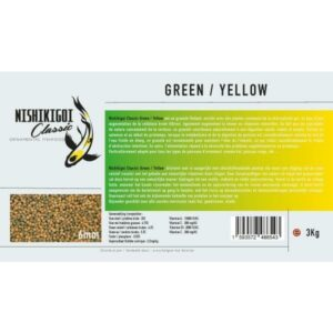 Nishikigoi classic Green / Yellow 6 mm 3 kg