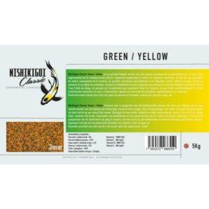 Nishikigoi classic Green / Yellow 3 mm 5 kg