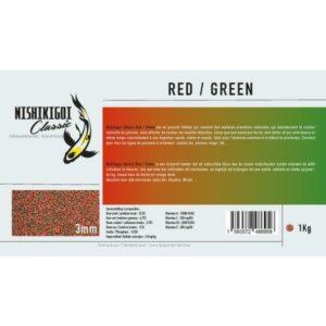 Nishikigoi classic Red/Green 3 mm 1 kg, aliment poissons d'ornement et nourriture pour carpe koi